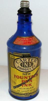 CARTER'S Fountain Pen Ink Cobalt Blue No. 2 Bottle-Label-Carter Inx Stopper-16oz