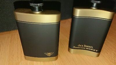 """JACK DANIELS"" BRAND TENNESSEE HONEY FLASK - BRAND NEW!! Stanley Steel. SET OF 2"