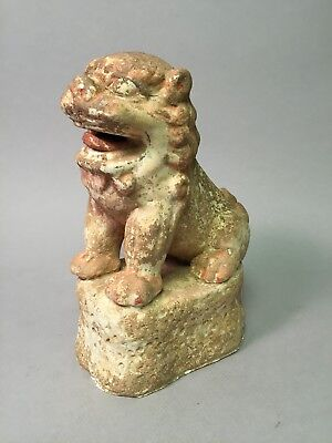 Terracotta or Pottery Painted Foo Dog