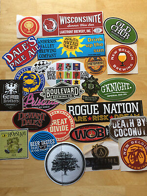 Beer Stickers Lot of 25! Colorado Breweries! plus more! NEW! Rare! Craft Beer