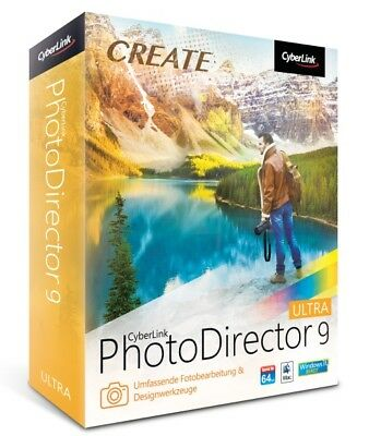 CyberLink PhotoDirector 9 Ultra Win/Mac, Deutsch Neu OVP