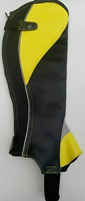 Fluorescent Synthectic Leather Horse Riding Half Chaps