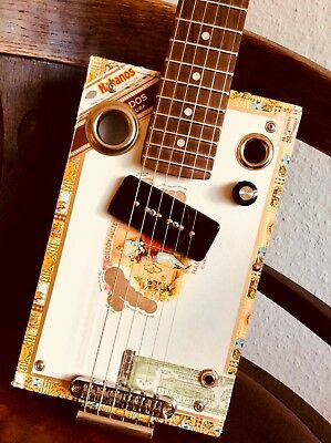 ~ Cigarbox Guitar ~ CBG, 6–String, Tele–Hals, P90 Pickup, Blues/Boogie, Gitarre