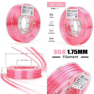 AMOLEN 3D Printer Filament, Pink Silk 1.75mm PLA Filament +/- 0.03 mm, 0.5LBS, i