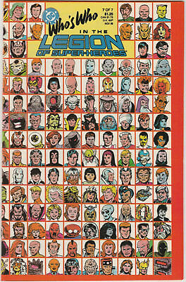 Who's Who in the Legion of Super-Heroes #7 VF/NM 1988 DC Comics last issue rare