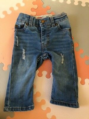 baby levi's jeans 3-6 months distressed 514 style baby boy baby girl unisex