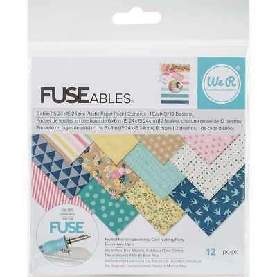 "We R Memory Keepers FUSEables Plastic Paper 6""X6"" 12/Pkg 12 Desig 633356608615"