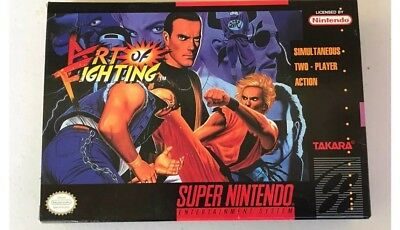 Art of Fighting SNES OVP! US-Version! Only Original Box! wie Neu! Like Brand New
