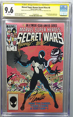 Secret Wars #8 Cgc Ss 9.6 Signed Stan Lee With Remark By Mike Zeck Venom