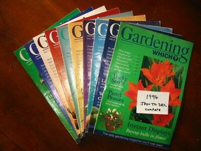 1994 Full Year Which Gardening January – December, all preloved used once only.
