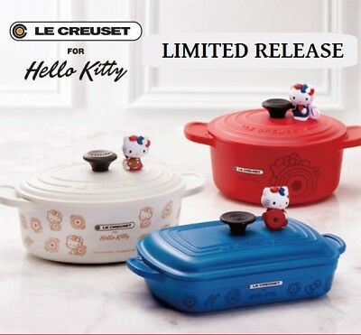 Hello Kitty Le Creuset Petite Collect Dinning Utensils Pot Lunchbox SANRIO 2018
