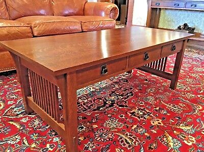 Arts And Crafts Mission Quarter Sawn Oak Cocktail Table By Stickley Audi ...