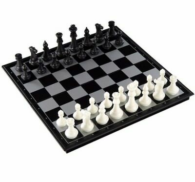 Chess Backgammon Checkers Set Portable 3-in-1 Folding Magnetic