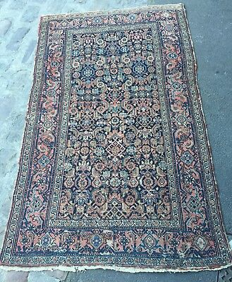 Old collection Vintage carpet MELAYER (Persia end of the 19th century) handmade