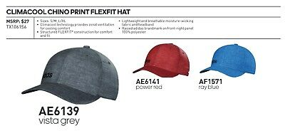 adf48f259be Adidas FLEXFIT® Chino Clima Cool Textured Hat •S M•L XL
