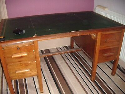 BUY IT NOW!  Really old, heavy, wooden desk - needs tlc - good project/Collect