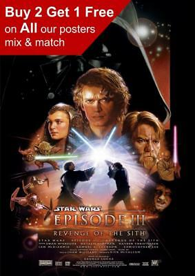 Star Wars Episode III Revenge Of The Sith Movie Poster A5 A4 A3 A2 A1