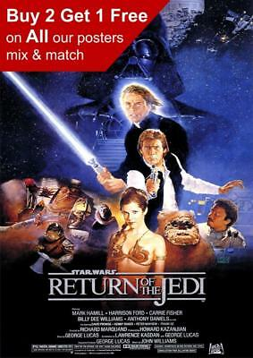 Star Wars Episode VI Return Of The Jedi Movie Poster A5 A4 A3 A2 A1