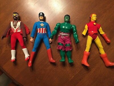 MEGO Marvel Action Figures: Captain America, Iron Man, the Hulk, the Falcon 8""