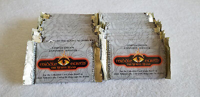 Middle Earth CCG The White Hand Lot of 25 Sealed Booster Packs MECCG Cards