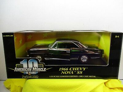 1/18 Scale Ertl American Muscle Chrome Chase 1966 Chevy Nova Ss
