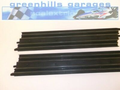 Greenhills Micro Scalextric  Long straight 42cm pair - Used - MT239 ##x