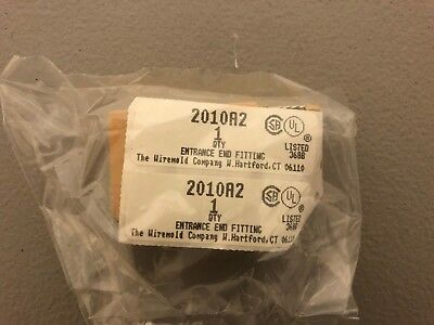 New In Package Wiremold Tan Entrance End Fitting 2010A2