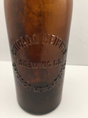 Vintage Antique Chicago Heights Brewing Company Beer Bottle Illinois Nice