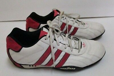 VINTAGE 2006 TEAM ADIDAS Goodyear Racing Shoes White with Red Size 10