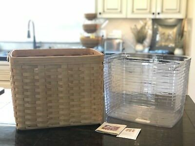 Longaberger 2007 Personal File Basket with Protector and Rods