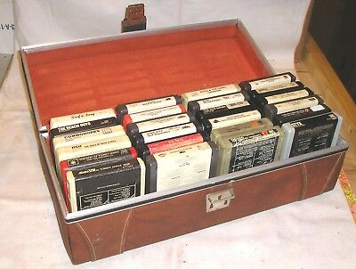 Lot of 24 Vintage Classic Rock 8 Track Tapes - Sytx, Stones, Etc. In Great Case