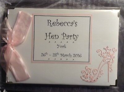 Hen Night/Party Personalised Photo Album/Memory/Scrap Book WITH INTERLEAVES
