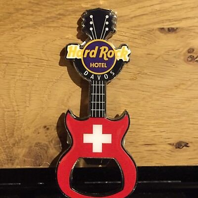NEU:DAVOS Hard Rock Cafe Magnet Bottle Opener