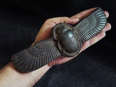 ANCIENT EGYPT EGYPTIAN ANTIQUE Winged Scarab Beetle Figure Sculpture 818-712 BC