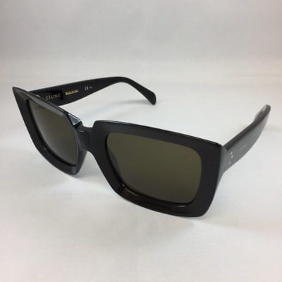 Celine CL 41449/S 807 EMMA Black Grey Square Designer Women Sunglasses 55mm