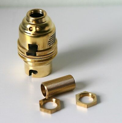 Brass switched lamp holder Kit BC fitting c/w 1/2 inch threaded rod