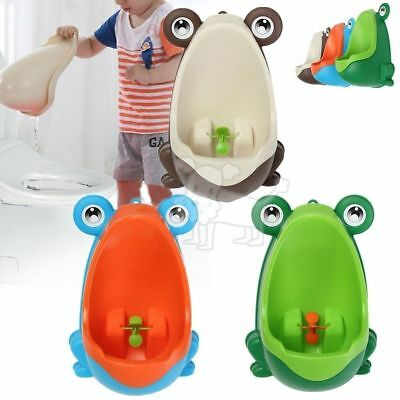 Kids Baby Toddler Boy Frog Potty Urinal Pee Toilet Home Training Trainer TKW