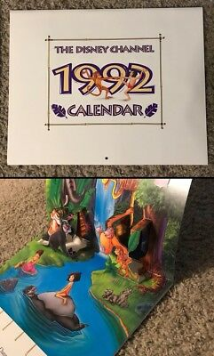 1992 The Disney Channel Calendar The Jungle Book w/ Pop Up Page IMC