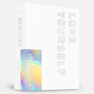 BTS WORLD TOUR LOVE YOURSELF NEW YORK BLU-RAY 2DISC+P.Book+2p Card+GIFT SEALED