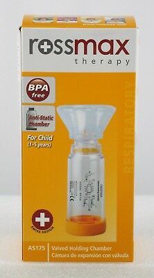 Inhaler Spacer - Medicine Chamber - With Child Silicone Mask - BPA & Latex Free