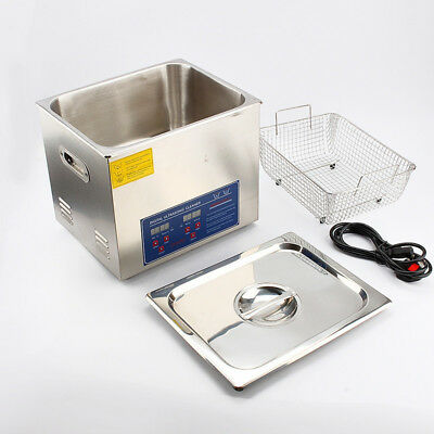 Stainless Steel 15l Capacity Heated Ultrasonic Cleaner Heater Timer