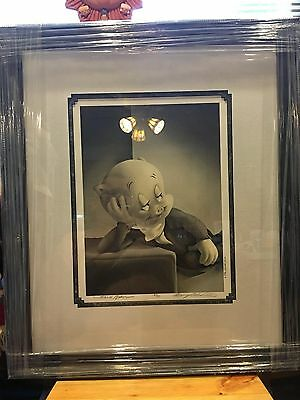 Warner Brothers The Portrait Series Signed Porky Pig Retail Over $700. Ap 8/50