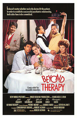 Beyond Therapy (1987) original movie poster - single-sided - rolled