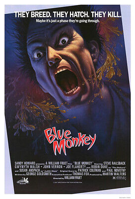 Blue Monkey (1987) original movie poster - single-sided - rolled
