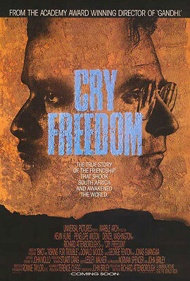 Cry Freedom (1987) original movie poster - single-sided - rolled