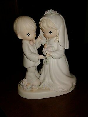 1994 Precious Moments Figurine I Give You My Love Forever True Wedding Figurine