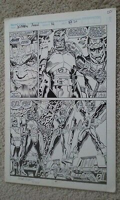 X-Men Annual #14 Art Adams Original Comic Art