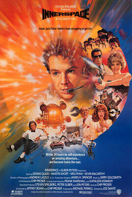 Innerspace (1987) original movie poster intl. version B single-sided rolled