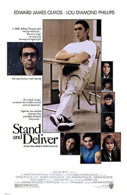 Stand and Deliver (1987) original movie poster single-sided rolled