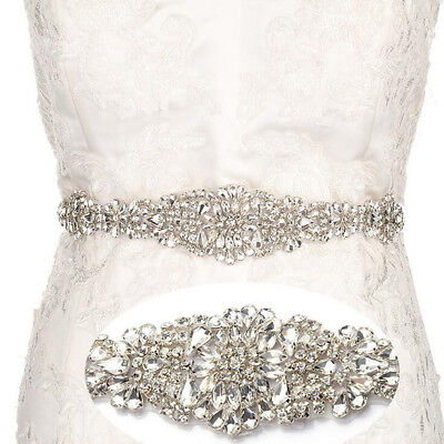 Rhinestone Wedding Belt Rhinestone Bridal Belt Handmade Crystal Diamond Jewelry